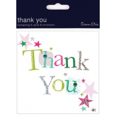 Card Thank You Foil 6 Pk