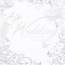 Invitation Wedding Evening Foil  6 Pk