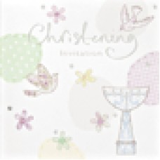 Invitation Christening Foil 6 pk