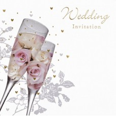 Invitation Wedding Foil 6 pk