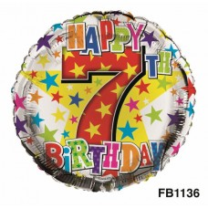 Balloon Foil Happy Birthday 7th Unisex