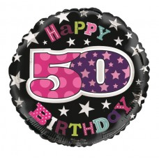 Balloon Foil - Happy 50th Birthday Femal
