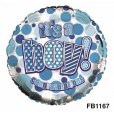 Balloon Foil - Baby It's a Boy
