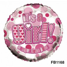 Balloon Foil - Baby It's a Girl