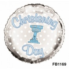 Balloon Foil - Christening Boy