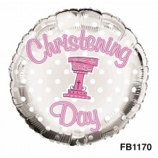 Balloon Foil - Christening Girl