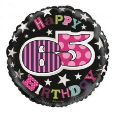 Balloon Foil - Happy 65th Birthday Femal