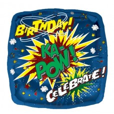 Balloon Foil - Happy KA POW Birthday