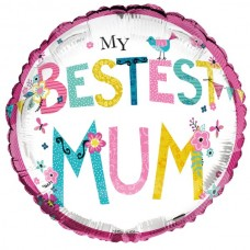 Balloon Foil - Mum Best ever Square