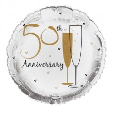 Balloon Foil - Wedding Aniversary 50th