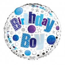 Balloon Foil - Happy Birthday Boy