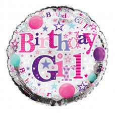 Balloon Foil - Happy Birthday Girl