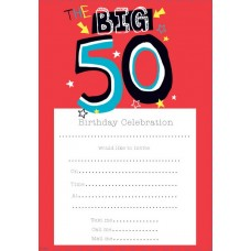 Invitation Birthday 50th Male 20 Sheet