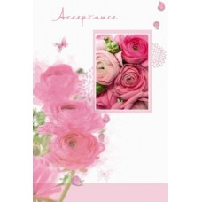 Card Acceptance Open Floral Single & Env