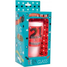 Keepsake Glass Beer for 21ST Birthday