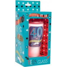 Keepsake Glass Beer for 40TH Birthday