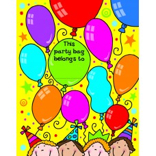 Loot Bag Balloons & Kids 10 pk