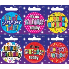 Badge Happy Birthday - 6's