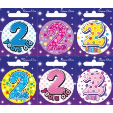 Badge Happy Birthday Age 2 - 6's