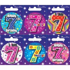 Badge Happy Birthday Age 7 - 6's
