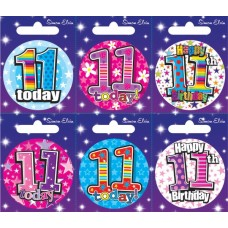 Badge Happy Birthday Age 11 - 6's