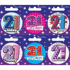 Badge Happy Birthday Age 21 - 6's