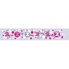 Banner Happy Birthday Age 2 (Girl)