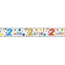 Banner Happy Birthday Age 2 (Boy)