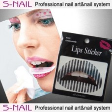Lip Tattoo 2 in Packet Black Stripes