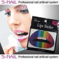Lip Tattoo 2 in Packet Rainbow