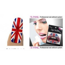 Lip Tattoo & 16 Nail Foils Union Jack
