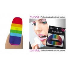Lip Tattoo & 16 Nail Foils Rainbow