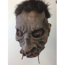 Decorative Shrunken Head with Stiched Mo